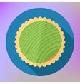 Kiwi fruit cupcake top view flat vector image