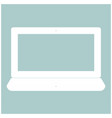laptop the white color icon vector image