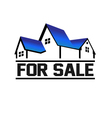 For Sale House vector image vector image