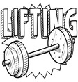 Lifting vector image vector image