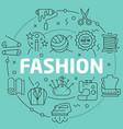 green line flat circle fashion vector image
