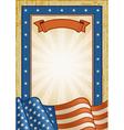 Retro American Frame vector image