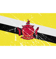 Flag of Brunei with old texture vector image