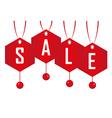 Christmas sale tags vector image