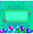 balloons and frame vector image vector image