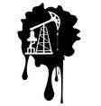 Grunge Oil Pump6 vector image