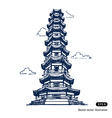 Chinese pagoda vector image vector image
