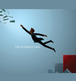 business man reach vector image