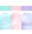 cherry bilberry and blueberry cotton candy vector image