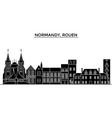 france normandy rouen architecture city vector image
