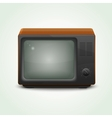 retro realistic tv set vector image