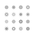 Snowflakes set winter and christmas theme EPS10 vector image
