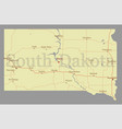 south dacota accurate high detailed state map vector image