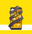 taxi mobile app icon vector image
