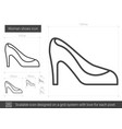 woman shoes line icon vector image