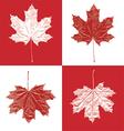 Canada vintage maple leaf set vector image
