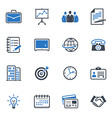 Business and Office Icons Color - Blue Series vector image vector image