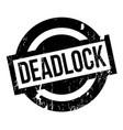 deadlock rubber stamp vector image