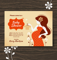 Vintage baby shower invitation vector image