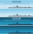 detroit skyline event banner vector image vector image