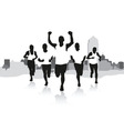 a group of runners vector image vector image
