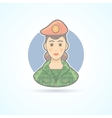 Army soldier woman servicewoman icon vector image