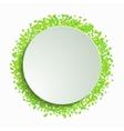modern leaf background vector image