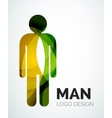 Abstract logo - man icon vector image