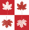 Canada vintage maple leaf set vector image