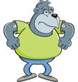 Cartoon angry gorilla vector image