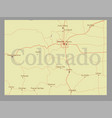 colorado state map with community assistance and vector image
