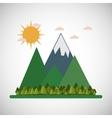 Graphic design of landscape vector image