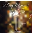 Merry christmas coctail on a background vector image