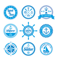 Nautical Badges vector image