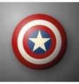 Shield with a star superhero shield comics vector image