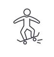 skating skate flat line concept vector image