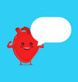 strong healthy happy heart character vector image