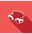 Swimming goggles icon vector image