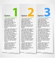 White torn paper progress option label background vector image