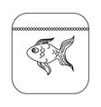 fish food icon vector image