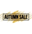 Fall Sale promo label Golden glitter template for vector image
