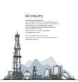 Oil Drilling Rig Brochure Flyer Design vector image