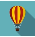 Hot air ballon icon flat style vector image