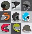 Helmet Collection vector image vector image