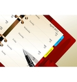 Business background with red notebook vector image vector image