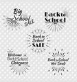 set of back to school typographic logo vector image