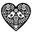 Heart with love birds vector image