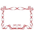 red ribbon frame isolated on white vector image vector image