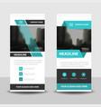 blue business roll up banner flat design vector image