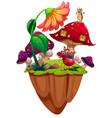 bugs in mushroom garden vector image vector image